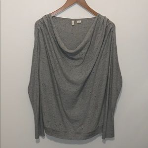 Moth Gray Drape Neck Sweater